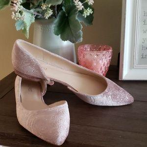 Beautiful velvet like pointy mule dress shoe